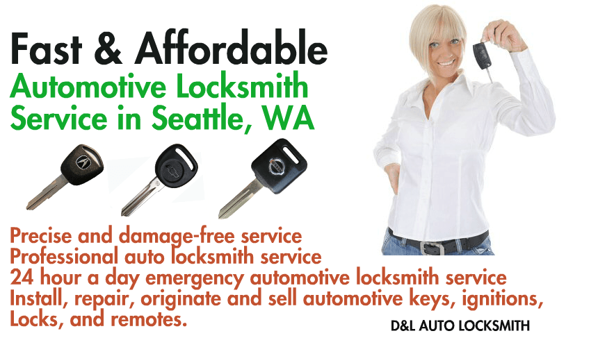 D&L auto Locksmith offers precise and damage-free service Professional auto locksmith service 24 hour a day emergency automotive locksmith service Install, repair, originate and sell automotive keys, ignitions, Locks, and remotes.