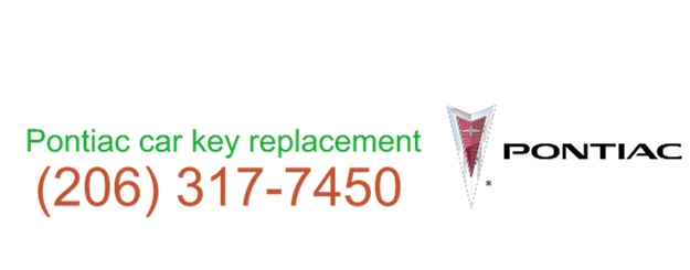 Seattle Pontiac Car Key Replacement 206 317 7450