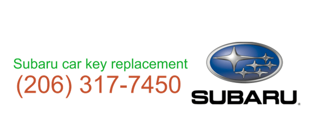 Subaru car key replacement 206 317 7473