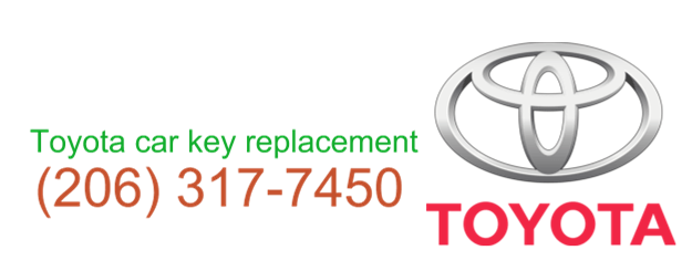 Toyota car key replacement 206 317 7475